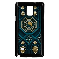 Ying Yang Abstract Asia Asian Background Samsung Galaxy Note 4 Case (black)