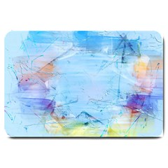 Background Art Abstract Watercolor Large Doormat