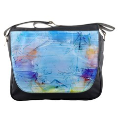 Background Art Abstract Watercolor Messenger Bags