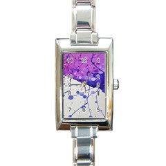 Art Painting Abstract Spots Rectangle Italian Charm Watch