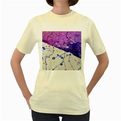 Art Painting Abstract Spots Women s Yellow T Shirt