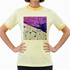 Art Painting Abstract Spots Women s Fitted Ringer T Shirts