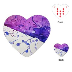 Art Painting Abstract Spots Playing Cards (heart)