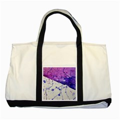 Art Painting Abstract Spots Two Tone Tote Bag