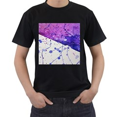 Art Painting Abstract Spots Men s T Shirt (black)