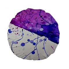 Art Painting Abstract Spots Standard 15  Premium Flano Round Cushions