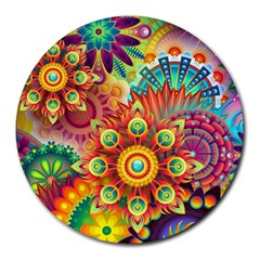 Colorful Abstract Background Colorful Round Mousepads
