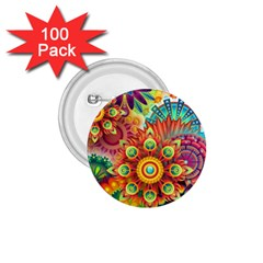 Colorful Abstract Background Colorful 1 75  Buttons (100 Pack)