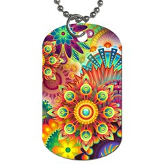 Colorful Abstract Background Colorful Dog Tag (two Sides)