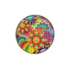 Colorful Abstract Background Colorful Hat Clip Ball Marker (4 Pack)