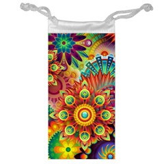 Colorful Abstract Background Colorful Jewelry Bag by Nexatart