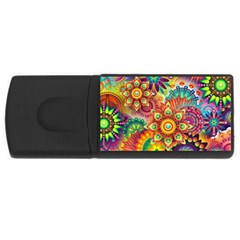 Colorful Abstract Background Colorful Rectangular Usb Flash Drive