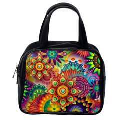 Colorful Abstract Background Colorful Classic Handbags (one Side)