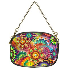 Colorful Abstract Background Colorful Chain Purses (one Side)