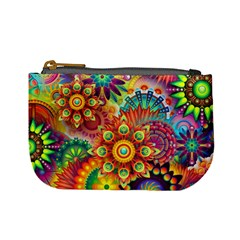 Colorful Abstract Background Colorful Mini Coin Purses