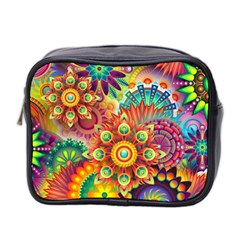 Colorful Abstract Background Colorful Mini Toiletries Bag 2 Side by Nexatart