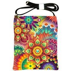 Colorful Abstract Background Colorful Shoulder Sling Bags