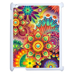 Colorful Abstract Background Colorful Apple Ipad 2 Case (white)