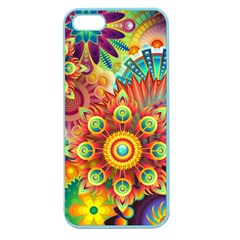 Colorful Abstract Background Colorful Apple Seamless Iphone 5 Case (color)