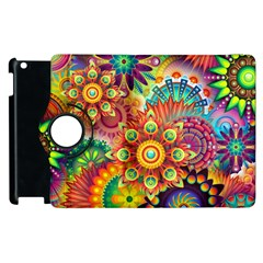 Colorful Abstract Background Colorful Apple Ipad 2 Flip 360 Case