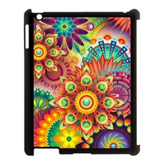 Colorful Abstract Background Colorful Apple Ipad 3/4 Case (black) by Nexatart
