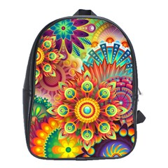 Colorful Abstract Background Colorful School Bag (xl)