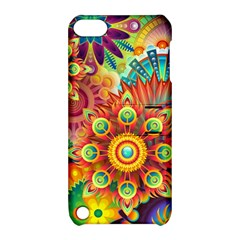 Colorful Abstract Background Colorful Apple Ipod Touch 5 Hardshell Case With Stand