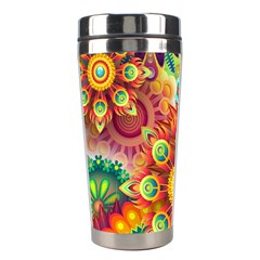 Colorful Abstract Background Colorful Stainless Steel Travel Tumblers