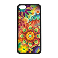 Colorful Abstract Background Colorful Apple Iphone 5c Seamless Case (black)