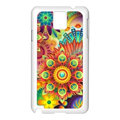 Colorful Abstract Background Colorful Samsung Galaxy Note 3 N9005 Case (white)