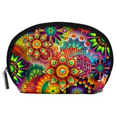 Colorful Abstract Background Colorful Accessory Pouches (large)
