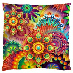 Colorful Abstract Background Colorful Large Flano Cushion Case (two Sides)