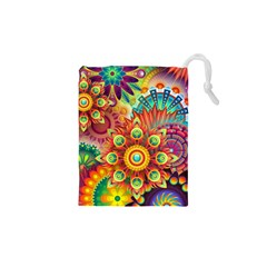 Colorful Abstract Background Colorful Drawstring Pouches (xs)