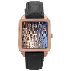 Wallpaper Steel Industry Rose Gold Leather Watch