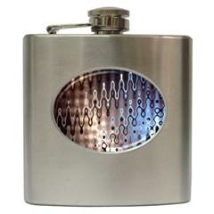 Wallpaper Steel Industry Hip Flask (6 Oz)
