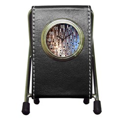 Wallpaper Steel Industry Pen Holder Desk Clocks
