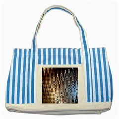 Wallpaper Steel Industry Striped Blue Tote Bag