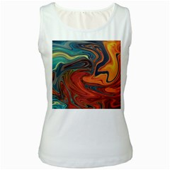 Creativity Abstract Art Women s White Tank Top