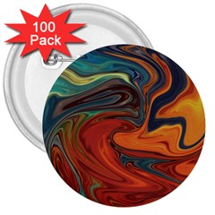 Creativity Abstract Art 3  Buttons (100 Pack)