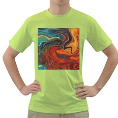 Creativity Abstract Art Green T Shirt