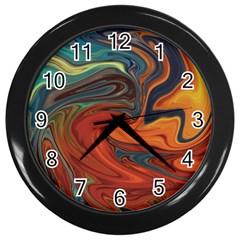 Creativity Abstract Art Wall Clocks (black) by Nexatart