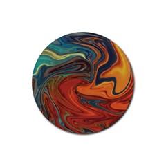 Creativity Abstract Art Rubber Coaster (round)
