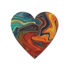 Creativity Abstract Art Heart Magnet