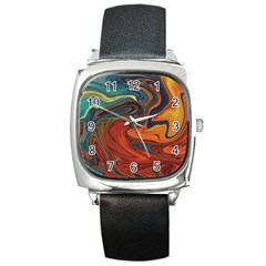 Creativity Abstract Art Square Metal Watch