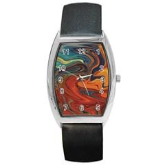 Creativity Abstract Art Barrel Style Metal Watch