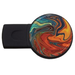 Creativity Abstract Art Usb Flash Drive Round (4 Gb)