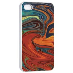 Creativity Abstract Art Apple Iphone 4/4s Seamless Case (white)