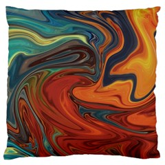 Creativity Abstract Art Large Cushion Case (one Side) by Nexatart
