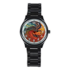 Creativity Abstract Art Stainless Steel Round Watch