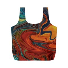 Creativity Abstract Art Full Print Recycle Bags (m)